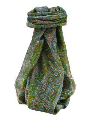 Mulberry Silk Traditional Long Scarf Kareng Sage by Pashmina & Silk