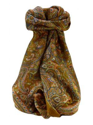 Mulberry Silk Traditional Long Scarf Kareng Chestnut by Pashmina & Silk