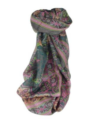 Mulberry Silk Contemporary Long Scarf Mina Chocolate by Pashmina & Silk