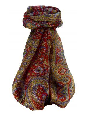 Mulberry Silk Traditional Long Scarf Kareng Scarlet by Pashmina & Silk