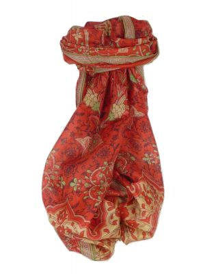 Mulberry Silk Contemporary Long Scarf Mina Scarlet by Pashmina & Silk