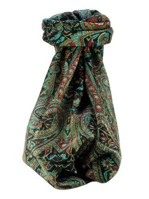 Mulberry Silk Traditional Long Scarf Kareng Black by Pashmina & Silk