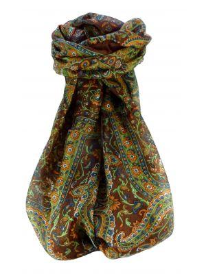 Mulberry Silk Traditional Long Scarf Kareng Bronze by Pashmina & Silk