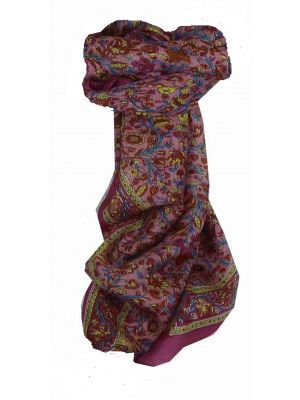 Mulberry Silk Traditional Square Scarf Affya Violet by Pashmina & Silk