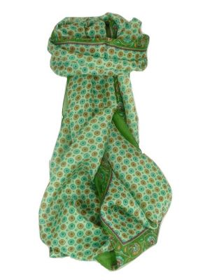 Mulberry Silk Contemporary Long Scarf Wazir Sage by Pashmina & Silk
