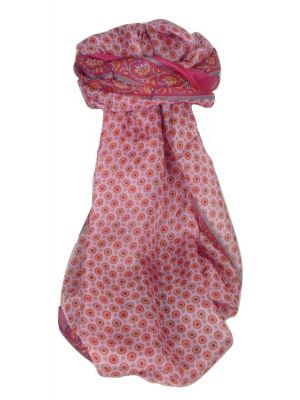 Mulberry Silk Contemporary Long Scarf Wazir Cerise by Pashmina & Silk
