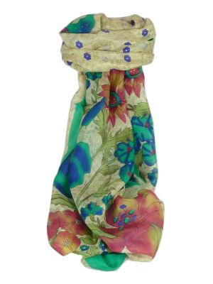 Mulberry Silk Contemporary Long Scarf Leela Emerald by Pashmina & Silk
