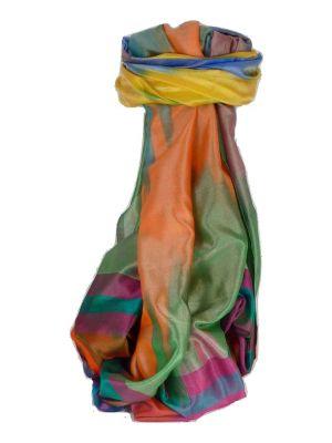 Varanasi Ekal Premium Silk Long Scarf Heritage Range Popat 1 by Pashmina & Silk