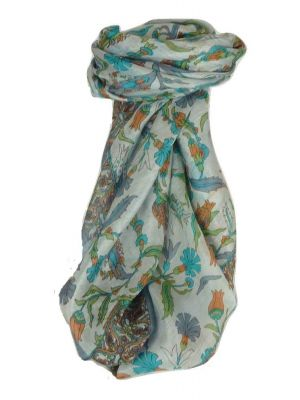 Mulberry Silk Traditional Square Scarf Inda Slate by Pashmina & Silk