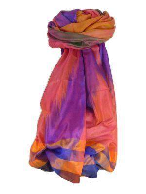 Varanasi Ekal Premium Silk Long Scarf Heritage Range Popat 6 by Pashmina & Silk