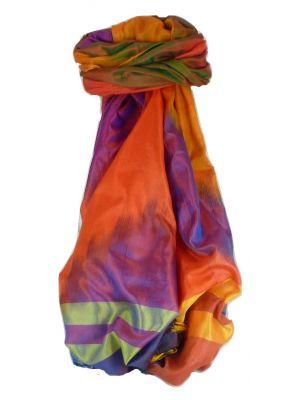 Varanasi Ekal Premium Silk Long Scarf Heritage Range Popat 7 by Pashmina & Silk