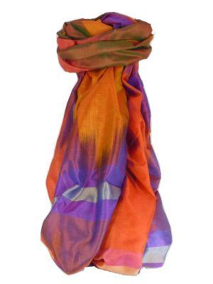 Varanasi Ekal Premium Silk Long Scarf Heritage Range Popat 9 by Pashmina & Silk