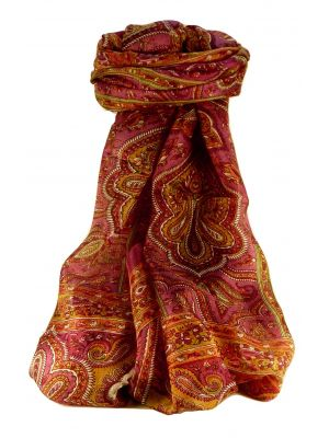 Mulberry Silk Traditional Long Scarf Madh Rose by Pashmina & Silk