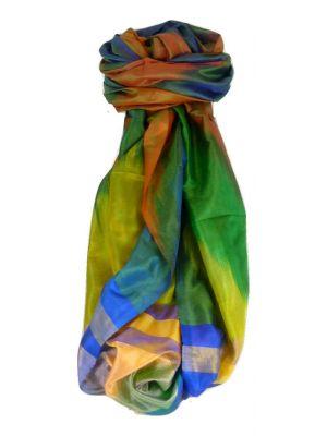Varanasi Ekal Premium Silk Long Scarf Heritage Range Popat 10 by Pashmina & Silk