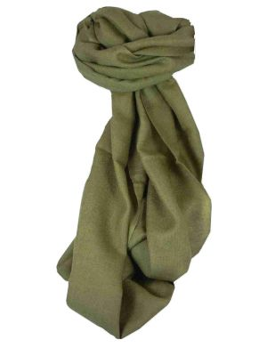 Fine Cashmere Scarf Karakoram Birds-Eye Weave Coffee by Pashmina & Silk