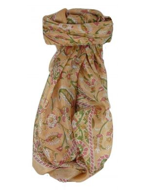 Mulberry Silk Traditional Square Scarf Sai Blush by Pashmina & Silk