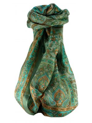 Mulberry Silk Traditional Long Scarf Madh Charcoal by Pashmina & Silk