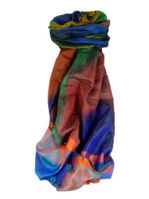 Varanasi Ekal Premium Silk Long Scarf Heritage Range Malik 4 by Pashmina & Silk