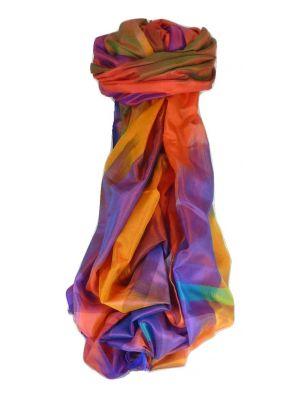 Varanasi Ekal Premium Silk Long Scarf Heritage Range Malik 9 by Pashmina & Silk