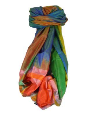 Varanasi Ekal Premium Silk Long Scarf Heritage Range Malik 10 by Pashmina & Silk