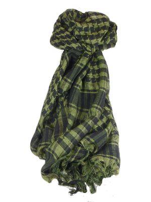 Keffiyeh Arab Grid Scarf Black & Green by Pashmina & Silk
