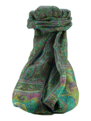 Mulberry Silk Traditional Long Scarf Couum Charcoal by Pashmina & Silk