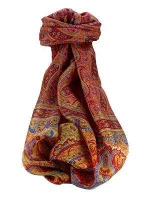 Mulberry Silk Traditional Long Scarf Couum Scarlet by Pashmina & Silk
