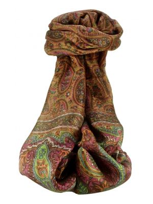 Mulberry Silk Traditional Long Scarf Couum Copper by Pashmina & Silk