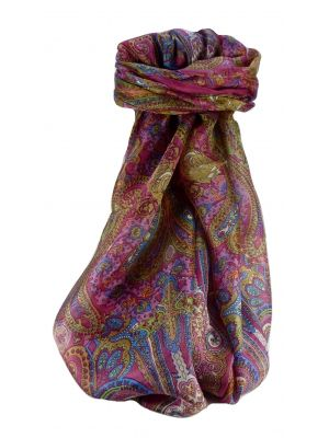 Mulberry Silk Traditional Long Scarf Worli Rose by Pashmina & Silk