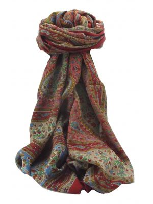 Mulberry Silk Contemporary Long Scarf Alena Scarlet by Pashmina & Silk