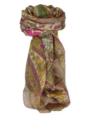 Mulberry Silk Traditional Square Scarf Usman Chestnut by Pashmina & Silk