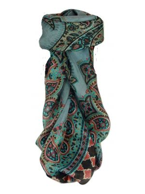Mulberry Silk Traditional Square Scarf Ladi Black by Pashmina & Silk
