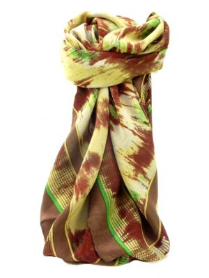Mulberry Silk Contemporary Square Scarf Abstract A301 by Pashmina & Silk