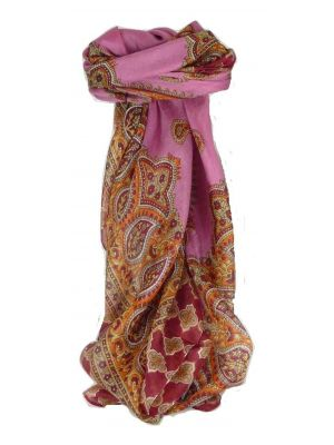 Mulberry Silk Traditional Square Scarf Ladi Carnation by Pashmina & Silk