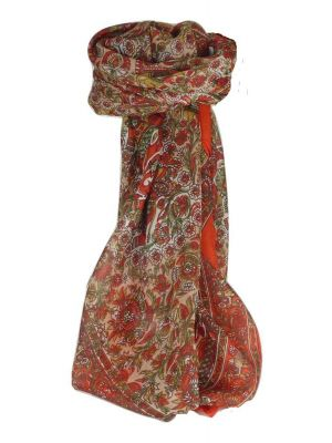 Mulberry Silk Traditional Square Scarf Mani Flame by Pashmina & Silk