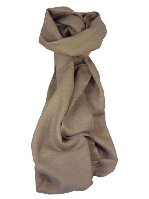 MENS Fine Cashmere Scarf French Beige by Pashmina & Silk