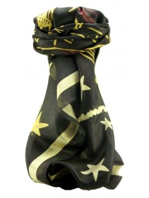 Mulberry Silk Contemporary Square Scarf Abstract A317 by Pashmina & Silk