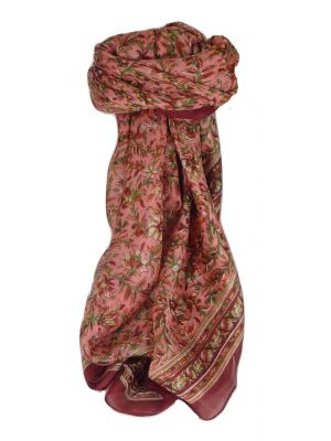 Mulberry Silk Traditional Square Scarf Ulla Wine by Pashmina & Silk