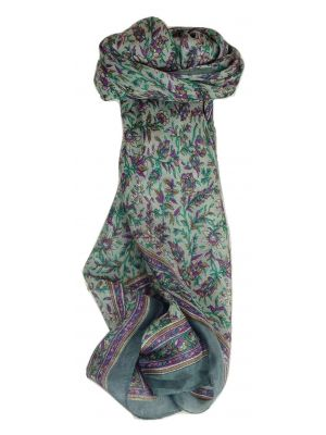 Mulberry Silk Traditional Square Scarf Ulla Charcoal by Pashmina & Silk