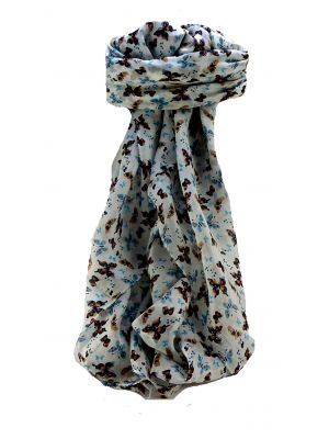 Mulberry Silk Contemporary Square Scarf Floral F238 by Pashmina & Silk