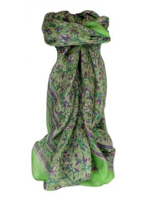 Mulberry Silk Traditional Square Scarf Ulla Fern by Pashmina & Silk