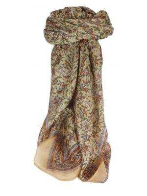 Mulberry Silk Traditional Square Scarf Ulla Blush by Pashmina & Silk