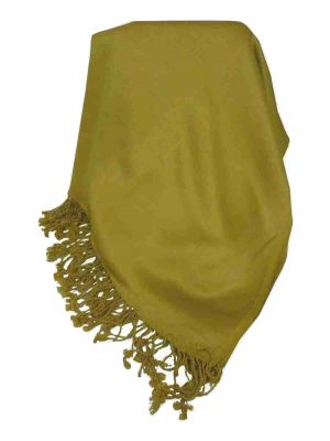 Bamboo Satin Pashmina in Gold by Pashmina & Silk