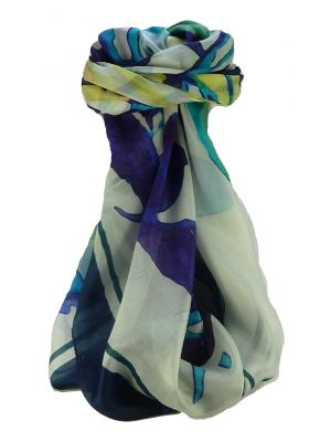 Mulberry Silk Contemporary Square Scarf Floral F204 by Pashmina & Silk