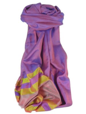 Varanasi Border Premium Silk Long Scarf Heritage Misra 100 by Pashmina & Silk