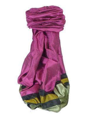 Varanasi Border Prime Silk Long Scarf Heritage Vijaya 201 by Pashmina & Silk