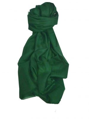 Pashtoosh Luxury Cashmere Stole Green by Pashmina & Silk