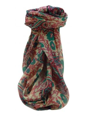 Mulberry Silk Contemporary Square Scarf Floral F212 by Pashmina & Silk