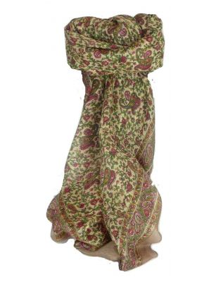 Mulberry Silk Traditional Square Scarf Bashia Chestnut by Pashmina & Silk