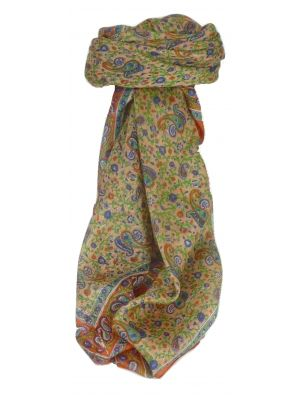 Mulberry Silk Traditional Square Scarf Bashia Terracotta by Pashmina & Silk